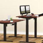 Shw Desk Company Shw Desks Shw Standing Desk Shw Electric Height Adjustable Computer Desk 55 Inch Large Shw L Shaped Desk Home Office Corner Desk Wood Shw Furniture