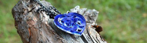 OM blue necklace heart shape uniquedesign from shyamantaka 1