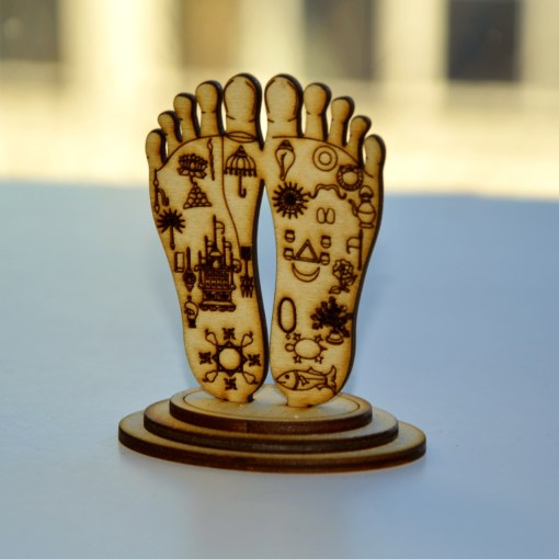 Chaitanya Mahaprabhu Lotus feet Statue 4