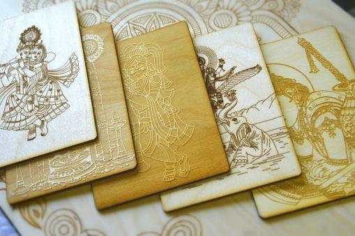Garuda and Vishnu postcard Shyamantaka Collage