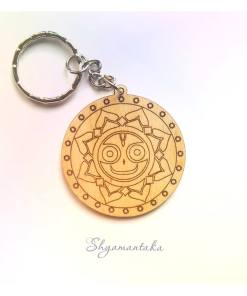Jaganatha smiling engraved and lasercut Shyamantaka