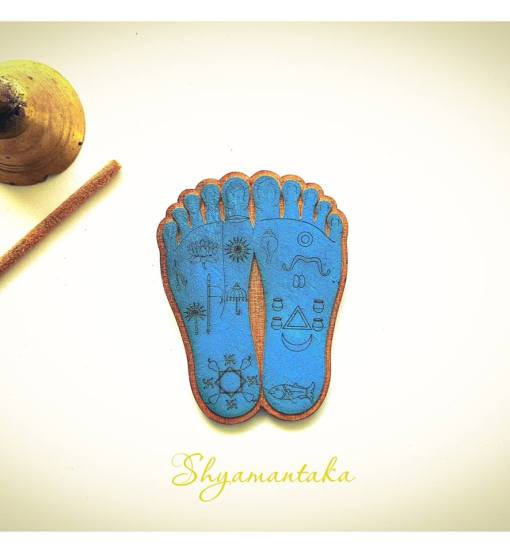 Krishna Lotus Feet engraved and lasercut Shyamantaka