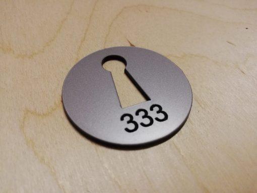 Dressing Room Number Laser cut