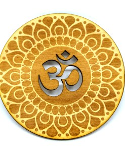 Om Coaster lasercut logo engraved ornament