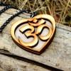 OM wooden Necklace