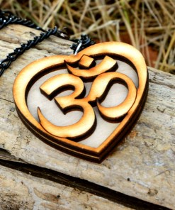OM wooden Necklace