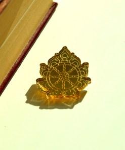 Sudarshana Chakra golden brooch 3