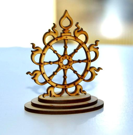 Sudarshana Chakra wooden statue 2