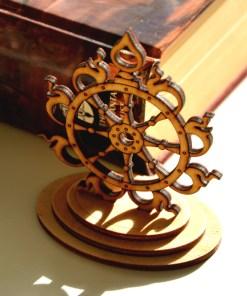 Sudarshana Chakra wooden statue 5