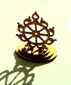 Sudarshana Chakra wooden statue 7