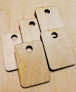 Wooden Number Tag With Custom text and Number - Laser Cut - Dressing Room3