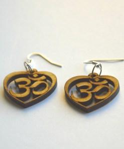 OM wooden earrings 1