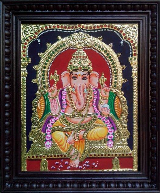 Tanjore Painting Vinayagar 1