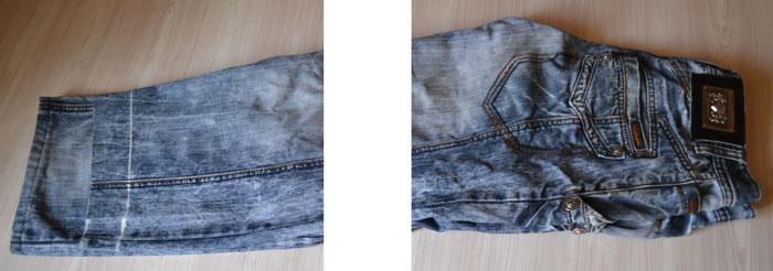 Как выровнять штанины джинсов
