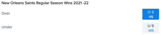 New Orleans Saints Win Total Odds via FanDuel Sportsbook