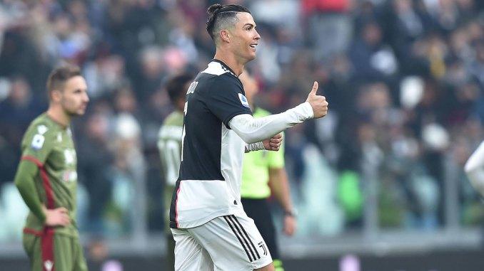 Cristiano Ronaldo scores a hat trick vs. Cagliari
