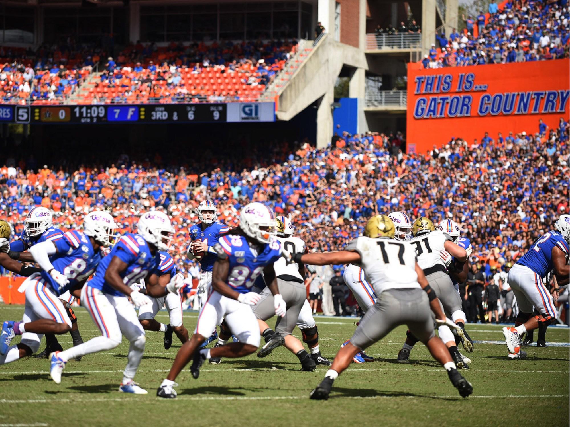 Florida Gators football vs Vanderbilt