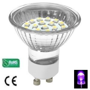 Ampoule LED Gu10 20 Leds SMD Couleur Violet