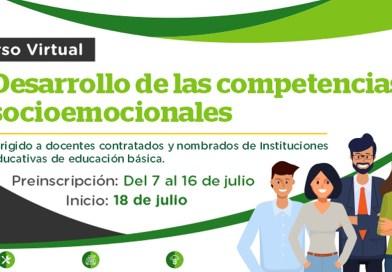 """PeruEduca.- Iniciamos el curso virtual """"Desarrollo de competencias socioemocionales"""""""