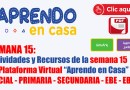 """APRENDO EN CASA.- Actividades y Recursos de la semana 14 de la Plataforma Virtual """"Aprendo en Casa"""" INICIAL – PRIMARIA – SECUNDARIA – EBE – EBA."""