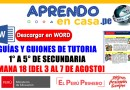 TUTORÍA: GUÍAS Y GUIONES DE 1° a 5° DE SECUNDARIA- SEMANA 18 [Del 3 al 7 de agosto]word