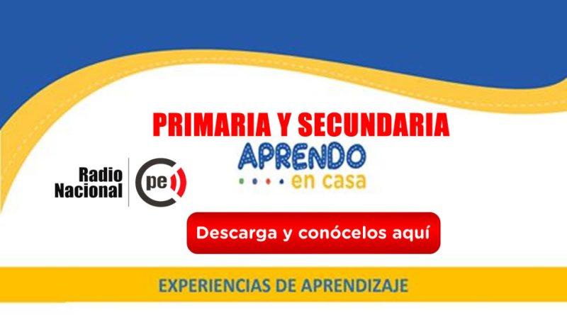 """Experiencias de Aprendizajes del mes de Agosto con la estrategia """"Aprendo en casa""""[Radio][Primaria y Secundaria]"""