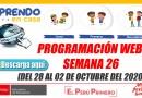 SEMANA 26:Guía docente para la programación semanal-INICIAL-PRIMARIA-SECUNDARIA [WEB📥][Del lunes 28 al viernes 02 de octubre del 2020]