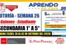 TUTORÍA: GUIONES adaptadas para el Estudiante – SEMANA 26[Secundaria: 1° a 5°][Del 28 al 02 de OCTUBRE del 2020]