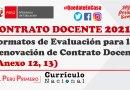 Formatos de Evaluación para la Renovación de Contrato Docente – CONTRATO DOCENTE 2021