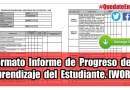 Formato de Informe de Progreso del Aprendizaje del Estudiante. [WORD]
