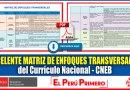 Excelente MATRIZ DE ENFOQUES TRANSVERSALES  del Currículo Nacional – CNEB [Descarga aquí]