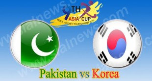 Pakistan vs Korea 15th Hockey Match Asia Cup 2013