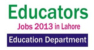 Punjab Educators Jobs 2013-2014 in Lahore