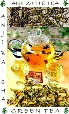 Semi-wild (biodiversity) health and environment-friendly Anji BaiCha Green Tea / Anji White Tea
