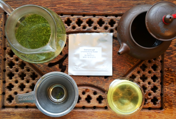 Preaparations to try Kabusecha Diamond Leaf Green Tea