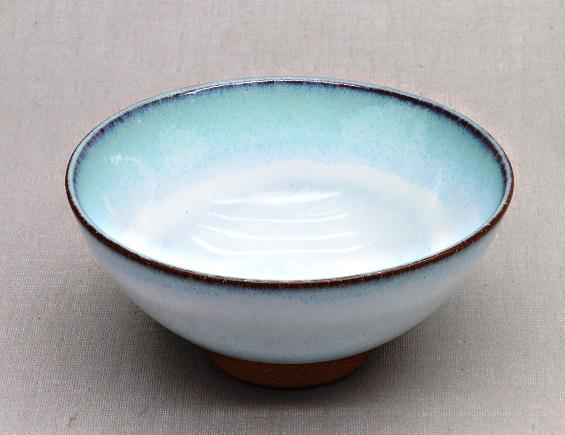 Japanese teacup, white & turquoise, 210ml, 11.5 x 5.5 cm