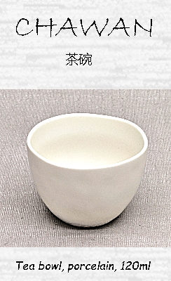 Japanese Chawan (Teacup), porcelain, white, 120ml