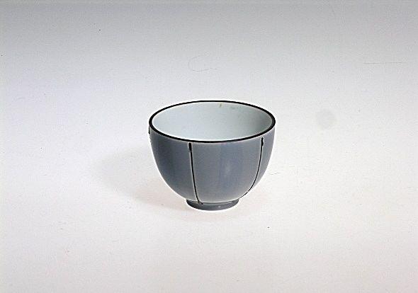 Japanese Tea Cup (Chawan), blue-grey, 150ml, ceramic