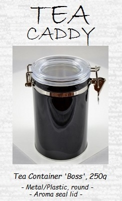 Tea Caddy Loreen-Boss, 250g - metal/plastic, round