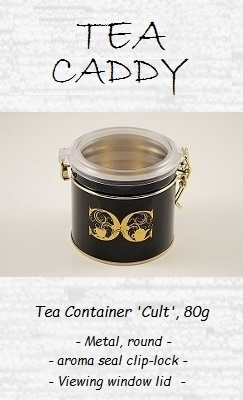 Tea Container 'Cult', 80g - Metal / Plastic, round