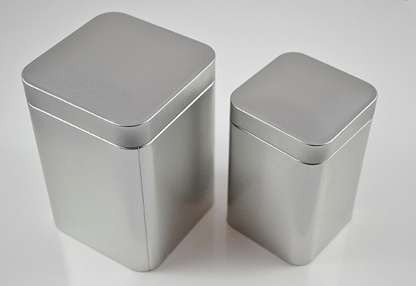Tea Box 'Till', 150g / 250g, metal, faint silver