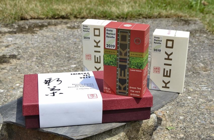 Keiko Shincha Set 2019 - decorative gift box : Shincha Cassic, Shincha Yakushima, Shincha Yume