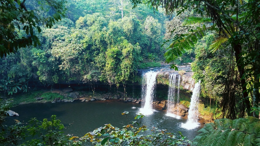 Tad Champee waterfall on Bolaven-Plateau in Laos