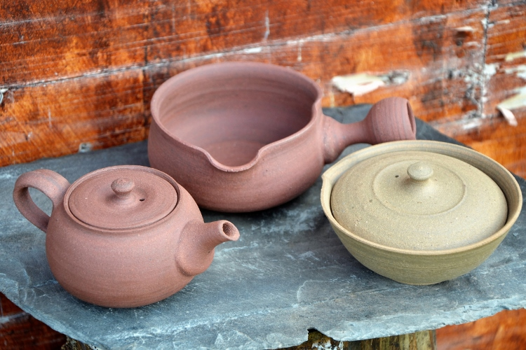 siamteas signature tea pottery ensemble unglazed siam tea shop