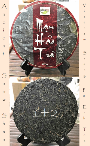 Ancient Snow Shan Sheng Pu Erh Tea 1+2