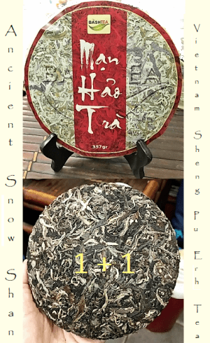 Ancient Snow Shan Sheng Pu Erh Tea 1+1
