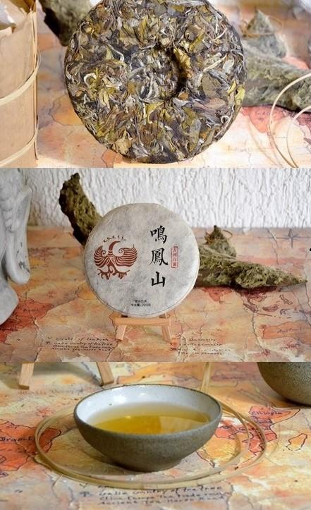 Ming Feng Shan Gushu Bai Lu Weißer Pu Erh Tee - zu Fladen gepresster weißer Tee vom Ming Feng Shan in Yunnan's Lincang-Bezirk
