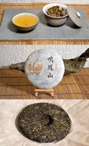 Ming Feng Shan Gushu Sheng Pu Erh Tee von alten Teebäumen heimischer großblättriger Assamica-Varietäten auf dem Ming Feng Shan in Yunnans Lincang Distrikt