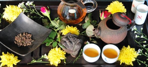 DMS Jin Xuan Black Pearls Schwarzer Tee zelebriert in chinesischer Gong Fu Cha Teezeremonie