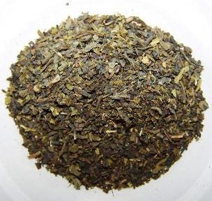 Traditionelle thailändische Eistee-Mischung, grüner Tee, Close-up